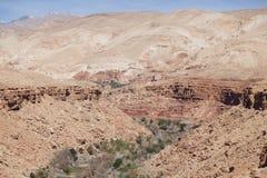 Barranca natural, Marruecos Imagen de archivo