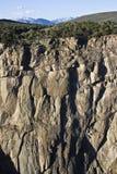 Barranca negra del Gunnison foto de archivo libre de regalías