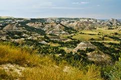 Barranca pintada en los Badlands, Dakota del Norte Foto de archivo libre de regalías