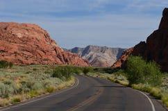 Barranca roja de la roca en Utah Fotos de archivo