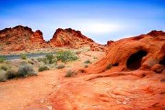 Barranca roja de la roca, Nevada Foto de archivo libre de regalías