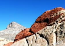 Barranca roja Las Vegas de la roca Foto de archivo libre de regalías