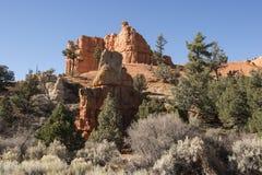 Barranca roja, Utah Foto de archivo