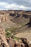 Barranca Salar Uyuni Bolivia Imagen de archivo libre de regalías