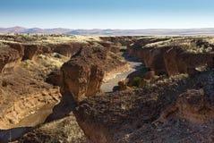 Barranca Sesriem, Namibia Foto de archivo libre de regalías
