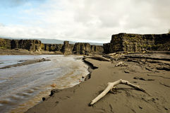 Barranca volcánica de la ceniza Imagen de archivo