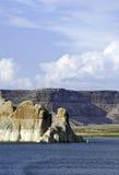 Barranca y lago Powell de la cañada Fotografía de archivo