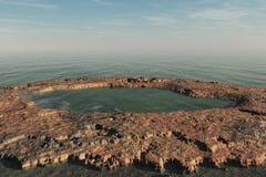 Barranca y mar Imagen de archivo libre de regalías