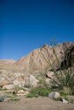 Barranca y montañas del desierto Imagenes de archivo