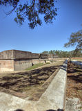 barrancas在pensacola美国附近的佛罗里达堡垒 图库摄影