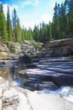 Barranco, agua, árbol y montaña Fotos de archivo libres de regalías