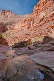 Barranco Barranco-bermellón del río del desierto-Paria de los acantilados de AZ-UT-Paria Fotografía de archivo