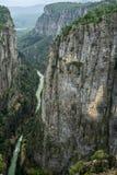 Barranco Bilgelik Vadisi de Tazi en Manavgat, Antalya, Turqu?a Paisaje asombroso Valle de la sabiduría fotos de archivo libres de regalías