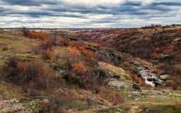 Barranco de Aktovsky en la caída Al sur de Ucrania foto de archivo