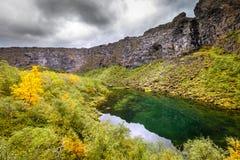 Barranco de Asbyrgi Fotos de archivo libres de regalías