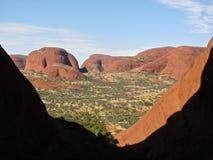 Barranco de Australia interior Olgas Imágenes de archivo libres de regalías