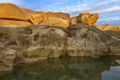 Barranco de 3000 Bok de Ubonratchathani Foto de archivo