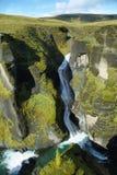 Barranco de Fjadrargljufur Imagen de archivo libre de regalías