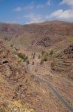 Barranco de Guayadeque Ravine, mamie Canaria Images stock