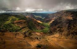 Barranco de Hawaii Waimea Fotografía de archivo libre de regalías