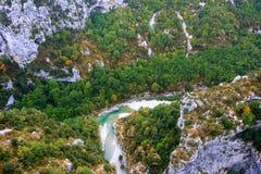 Barranco de la garganta de Verdon en Francia imagenes de archivo
