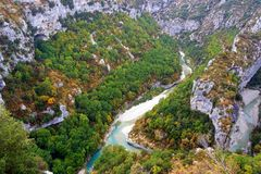 Barranco de la garganta de Verdon en Francia fotografía de archivo