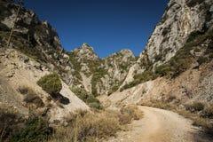 Barranco de la piedra caliza Foto de archivo