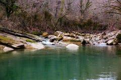 Barranco de la puerta del diablo del río del Hosta fotografía de archivo