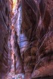 Barranco de la ranura del paso del alambre Foto de archivo libre de regalías