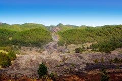Barranco de las Angustias lava river La Palma Stock Photo