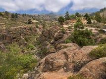Barranco de Los Albaderos, obere teil, kletterwände lizenzfreie stockbilder