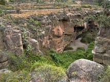 Barranco de Los Albaderos, Teneriffa, kletternder Bereich stockfotografie