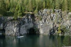 Barranco de mármol en verano Imagenes de archivo