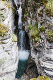 Barranco de Maligne, Jasper National Park, Alberta, Canadá Imagen de archivo libre de regalías