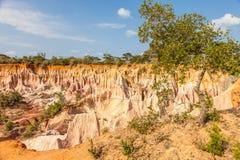 Barranco de Marafa - Kenia Foto de archivo libre de regalías