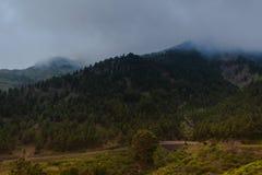 Barranco de Masca Luz y sombra El ir de excursión en el volcán Foto de archivo