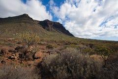 Barranco de Masca Luz y sombra El ir de excursión en el volcán Fotos de archivo libres de regalías