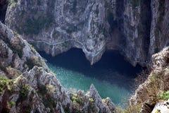 Barranco de Matka, Macedonia Fotografía de archivo