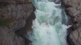 Barranco de Mistaya en el parque nacional de Banff, Canadá metrajes