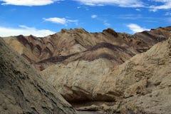Barranco de oro de Death Valley Imagen de archivo libre de regalías