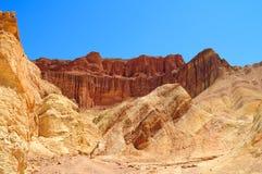 Barranco de oro en el parque nacional de Death Valley Imagenes de archivo