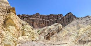 Barranco de oro, parque nacional de Death Valley Foto de archivo libre de regalías