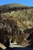 Barranco de oro, parque nacional de Death Valley, California, los E.E.U.U. Foto de archivo