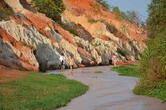 Barranco de Red River Foto de archivo libre de regalías