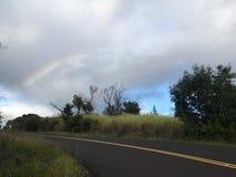 Barranco de Waimea en la isla de Kauai, Hawaii; Isla de Niihau en horizonte fotos de archivo