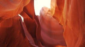 Barranco del antílope - colores que sorprenden de las rocas de la piedra arenisca metrajes