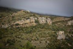 Barranco del Carrascal рядом с городком Cantavieja стоковые фотографии rf