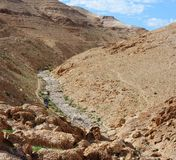 Barranco del desierto Imagen de archivo libre de regalías