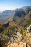 Barranco del río de Blyde, región de Mpumalanga, Suráfrica Fotos de archivo