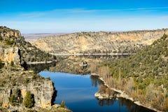 Barranco del río de Duraton en España fotografía de archivo